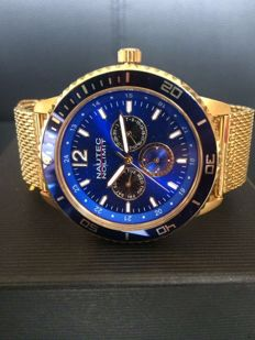 "Nautec No Limit Glacier ""Gold Blue"" - men's wristwatch"