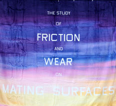Edward Ruscha - The study of friction and wear on maiting surfaces