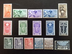 Kingdom of Italy, 1923/1934 - Sassone 141/46, 345/49 and 357/61 - 3 complete series
