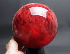 Extra Large Strawberry Quartz sphere - 22.61 cm - 13.30 kg