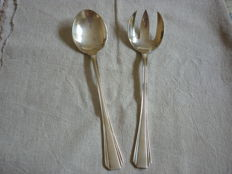 Silver plated salad serving set by Christofle