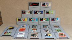 Nintendo - Mix Lot of 23 games : 14 games N64 - and 9 super Nintendo games