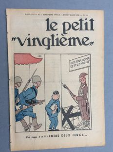 "Tintin – Le Petit Vingtième 10 (""The Little Twentieth"") – B – Original edition (1935)"