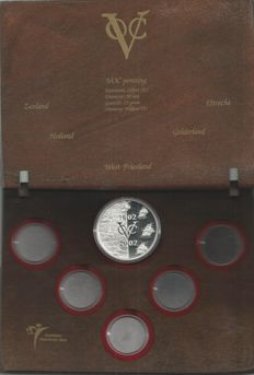 "The Netherlands – coin set ""400 years VOC"" ""Made from ship timber"""