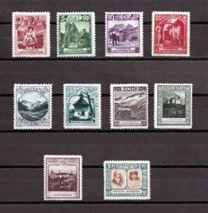 Liechtstenstein 1917/1954 – Lot of stamps and series – Yvert 4/24, 90/8, 100, 102/4 and 107,  281/3, HB 7.