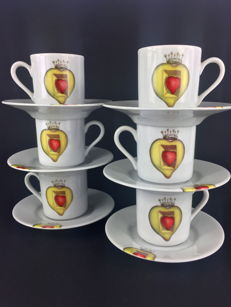"""Salvador Dalí"" coffee set ""The Royal Heart"" (1953) - Exclusive and discontinued edition"