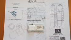 Natural white diamond, 0.33 ct, with IGL certificate. F/I1, 0.33 ct ***** LOW RESERVE PRICE *****