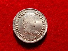 Spain – Fernando VII (1813–1833), 1/2 silver real coin – Mexico, 1815. JJ.