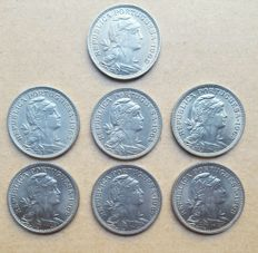 Portuguese Republic – Consignment of 7 coins – 50 Centavos 1962, 1963, 1964, 1965, 1966, 1967, 1968 Superior condition