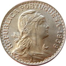 Portugal – Portuguese Republic, 1 escudo, copper-nickel coin, 1959