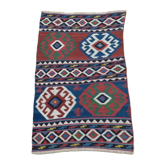 Kilim Caucasian 93 x 167 cm Azeri tribe woven by hand end of 19th century