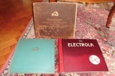 3 albums 78 rpm gramophone classical + 7 loose records