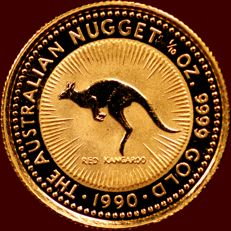 Australia – 15 dollar 1990 'The Australian Nugget' – 1/10 oz gold