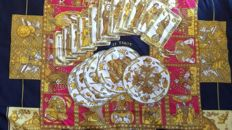 Hermes silk square scarf.
