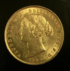 Australia – 1 Sovereign 1866 (Sydney) – Victoria – gold