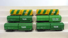 """Roco H0 - 4368/4368C/46226 - 6 garbage vans """"VAM Compost/Recycling"""" of the NS"""