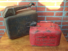 Jerrycan for petroleum - spare fuel - accessory from the 1970s
