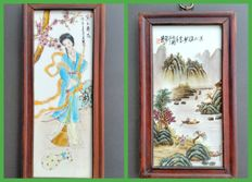 Painting on porcelain - scholar - China - end of the 20th century