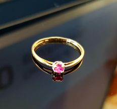 18kt gold ruby solitaire