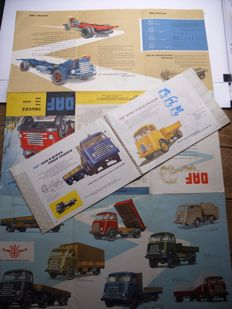 DAF Programme Catalogue 1955 in Ring binder + DAF Trucks 1100 1300 1500 Series Brochure 1962.
