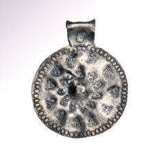 Viking Silver Pendant with Punched Decoration, 4.7 cm L