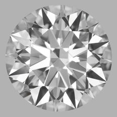 1.00ct Round Brilliant   D VS1  GIA  EXEXEX   -Original image-serial  #AS4