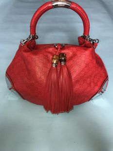 Gucci - Indy Bamboo Tassel Hobobag