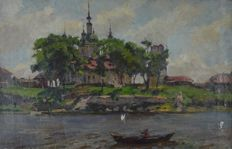A Tankelvsky. (Russian 20th century) On the Moscow river.