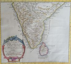 India, Sri Lanka, South India & Goa; Bellin / Van der Schley - Suite de la Carte de L'Inde en deca du Gange (..) / Vue de Goa - 1752 / 1750