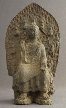 Large iron sculpture of a seated Buddha – China – late 20th century