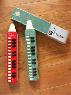 2 very early Hohner harmonicas - 1 Melodica Soprano with original cardboard packaging and 1 Alto