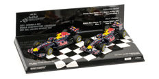 Minichamps - Scale 1/43 - Lot with 2 models: 2 x Red Bull Racing Renault RB7 - Constructors World Champions Set 2011