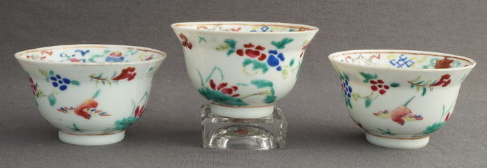 Porcelain bowls with Buddhist symbols – China – second half of the nineteenth century