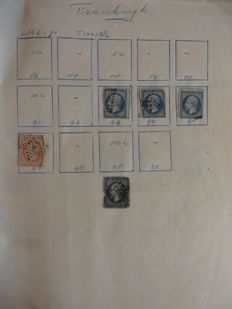 Batch, mainly: France and (ex)-colonies - In an album, a folder and on loose sheets and cards