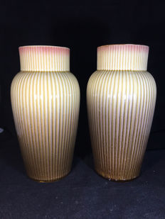 Gustave de Bruyn - A pair of Art Deco vases