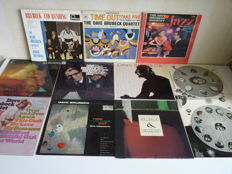 The Dave Brubeck Quartet, a big lot with 10 albums of this great American composer & pianist. All his great compositions are present in this lot. Many albums play MINT-