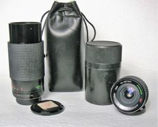 A lot consisting of 2 beautiful Panagor lenses, near new condition, complete with caps and cases