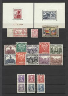 Spain 1905–1938 – Set of complete series.