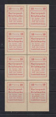 Germany, Local issues 1945 - Lauterback - Michel 1 in sheetlet