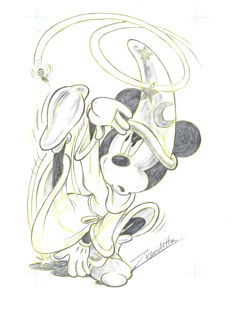 Vendetta, Z. - Original pencil drawing #4 - Mickey's Bee Series - The Sorcerer's Apprentice