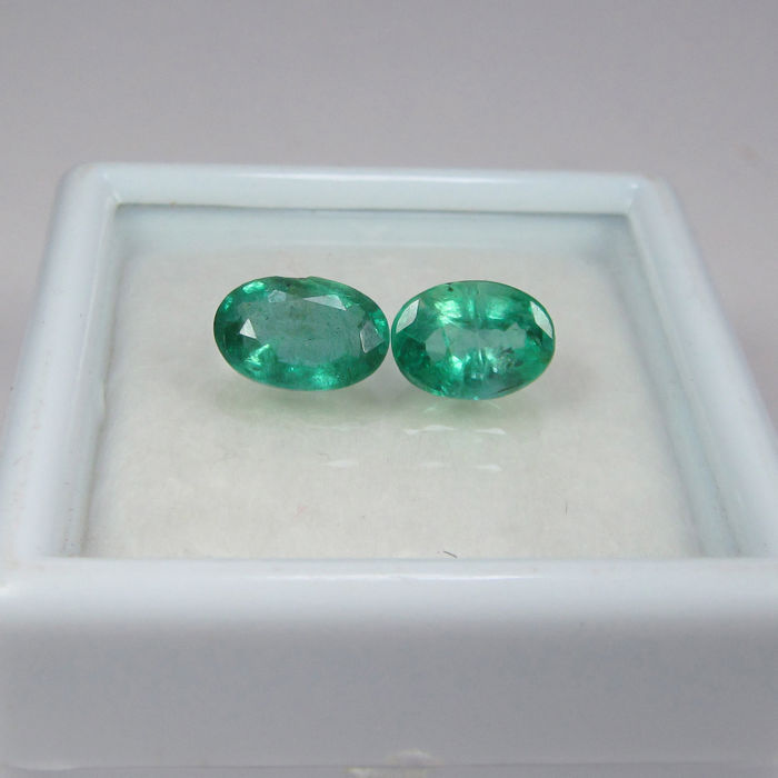 1.25 Ct - Emerald Pair - No Reserve Price