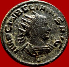 Roman Empire - Aurelian with Vabalathus (270-275) bronze antoninianus ( 4,11 g, 20 mm) from Antioch mint. VABALATHVS V CRIM D R