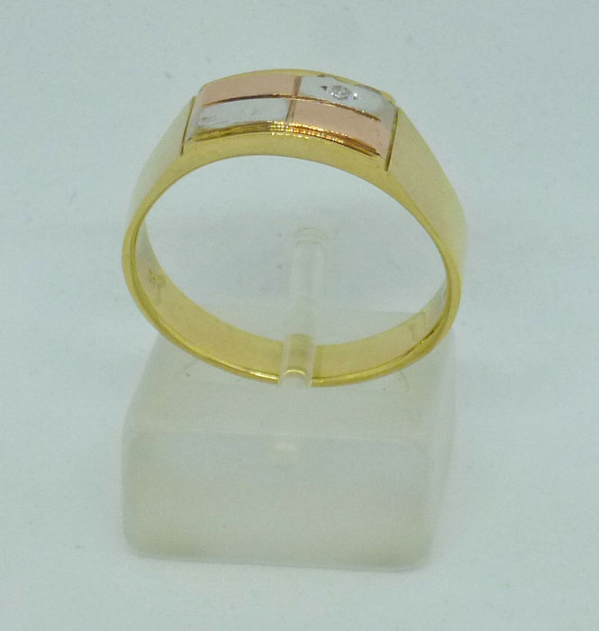14kt yellow gold Men's ring - Size: 62,5