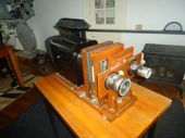 Check out our rare magic lantern/enlarger with two lenses (museum piece)