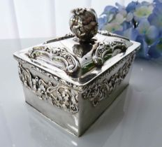 Silver jewellery or potpourri box - Rosell - Barcelona - early 19th century