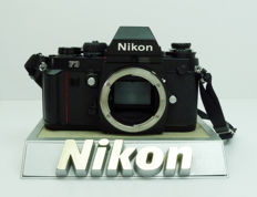 Nikon F3 Black body with camera strap + Display.