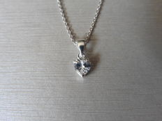 18k White Gold Heart Diamond Pendant - 0.75ct