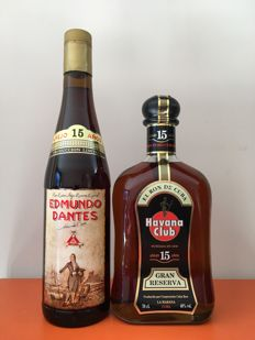 Two Bottles of Rum - Edmundo Dantes 15 y.o. & Havana Club 15 y.o.
