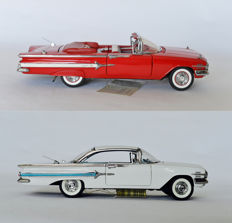 Franklin Mint - Scale 1/24 - 1960 Chevrolet Impala Convertible & 1960 Chevrolet Impala Coupe
