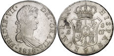 Spain – Fernando VII – 8 Reales 1818 mint of Seville CJ – Silver – Rare